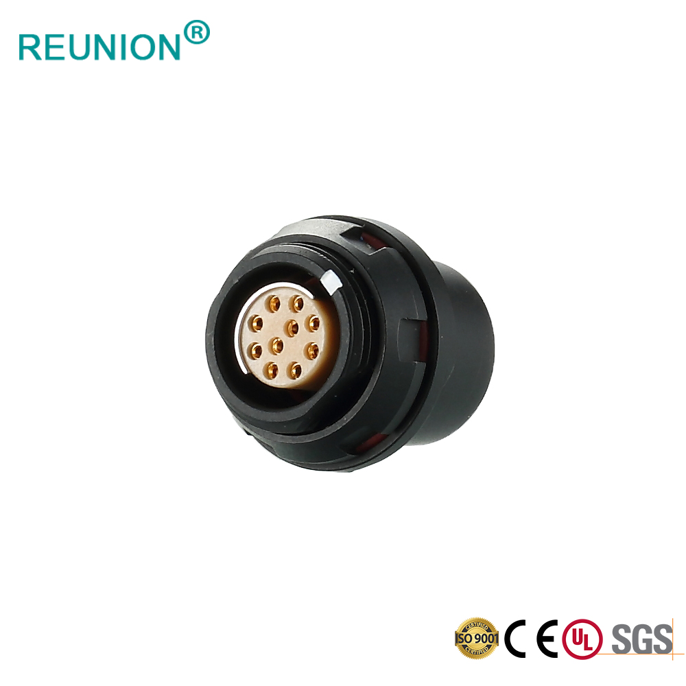 F Series 1+3 Coaxial Pins IP68 Watertight Circular Connector for Signal Transmission