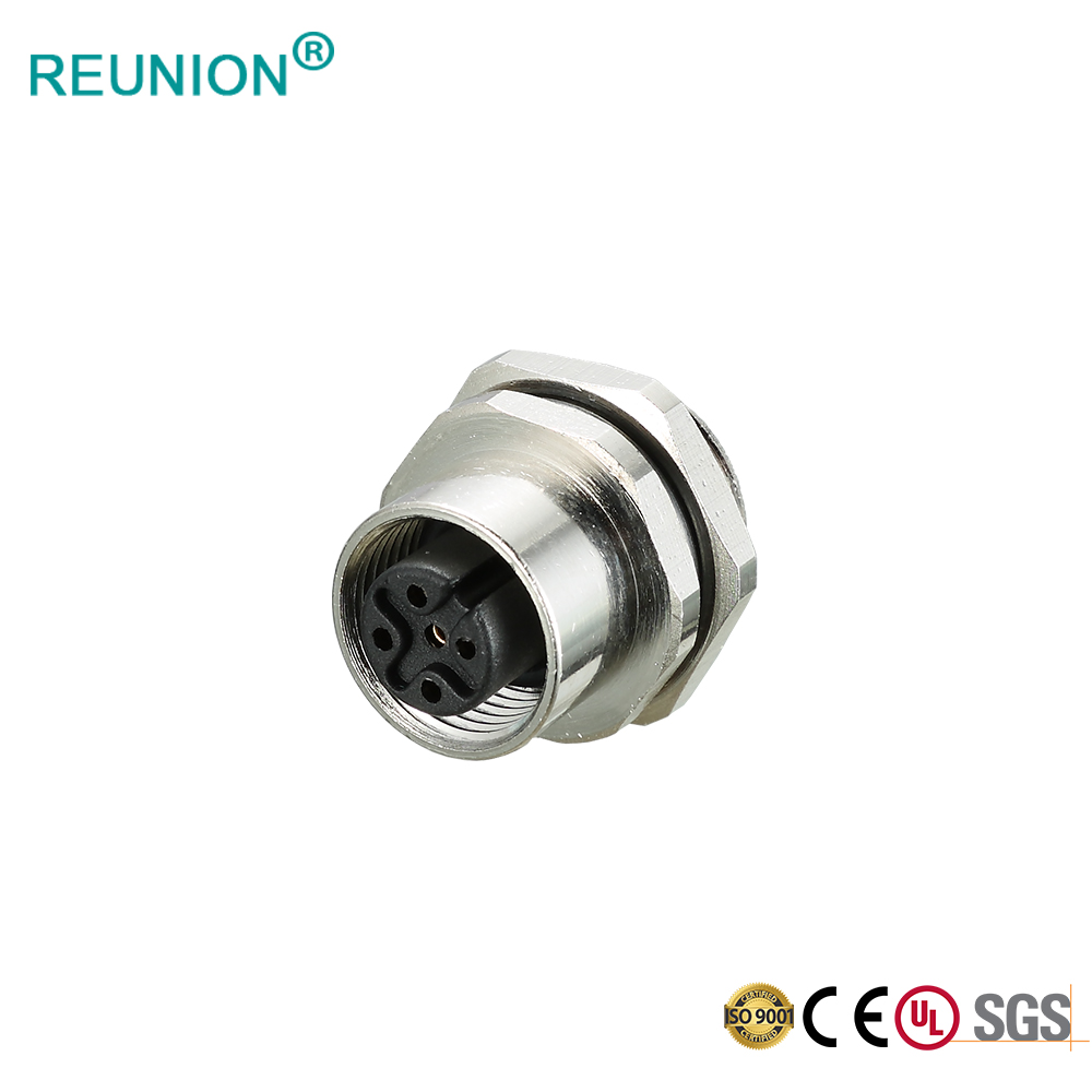 IP67 Wire Connector 4 Pin Female Shielded Molded Connector M12 Sensor Cable Assembly