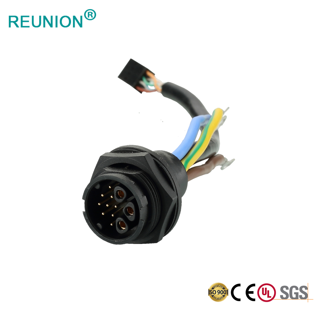 REUNION 2X Series - 3+9 Hybrid Power and Data Connector 30A Current Support