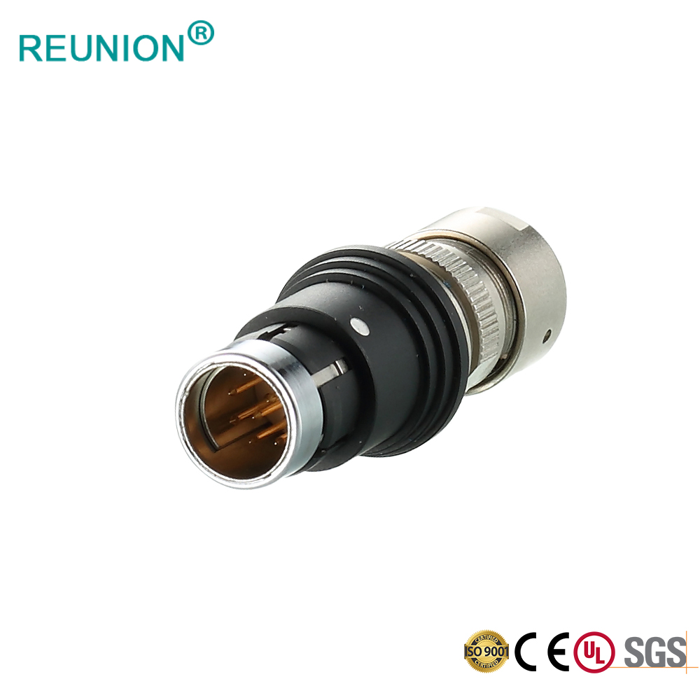 Power supply 1F series 8pole electrical full shielded circular connector