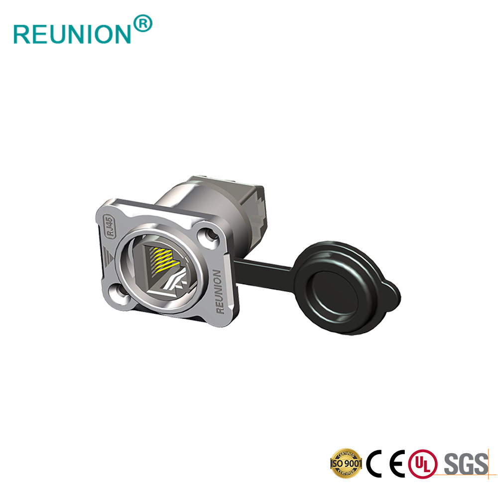REUNION 2019 New Type Ethernet 8P8C Shield Female Connector Panel Mount RJ45 Connector