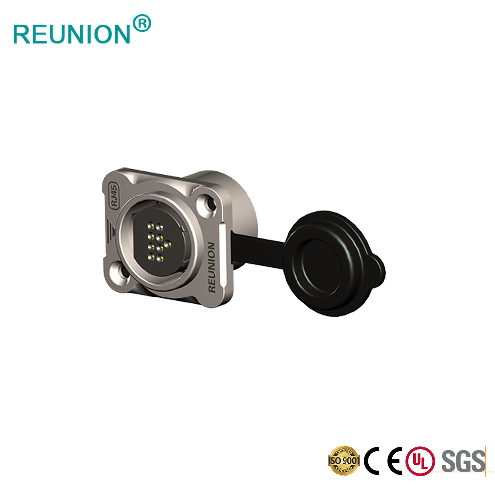 Industrial RJ45 Signal Transmission Connector Male Female Quick Lock Metal Shell Data Connector