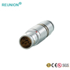 Quick locking push pull welding cable connector with multi-pole