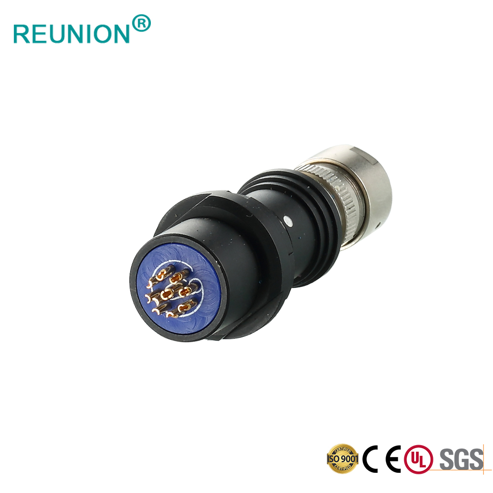 Coaxial signal female pins solder cable medical connector