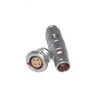 4 pin male solder straight plug circular connector FGG/PGG