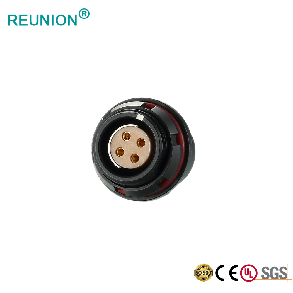 F series coaxial pins signal transmission push-pull connector