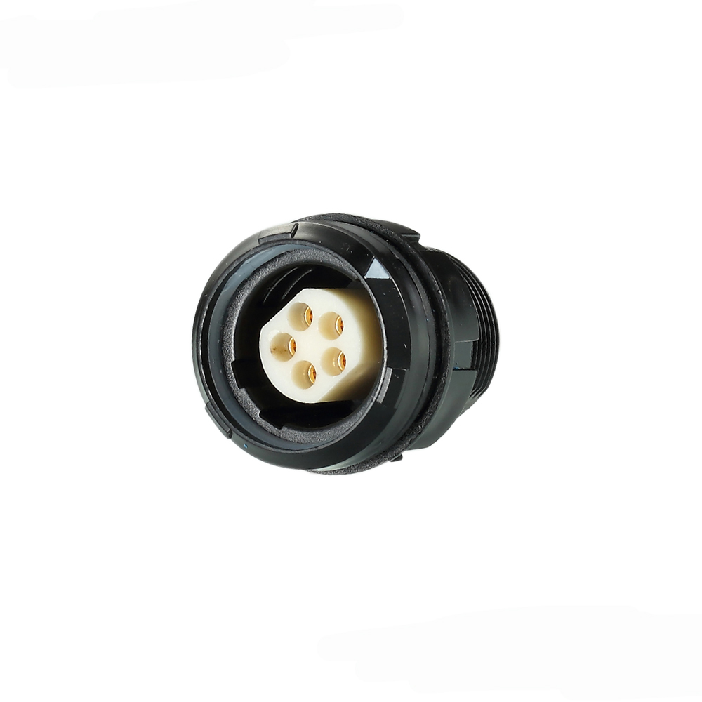 SNB.2P316.APLYM - Medical application female plastic receptacle waterproof cable connectors