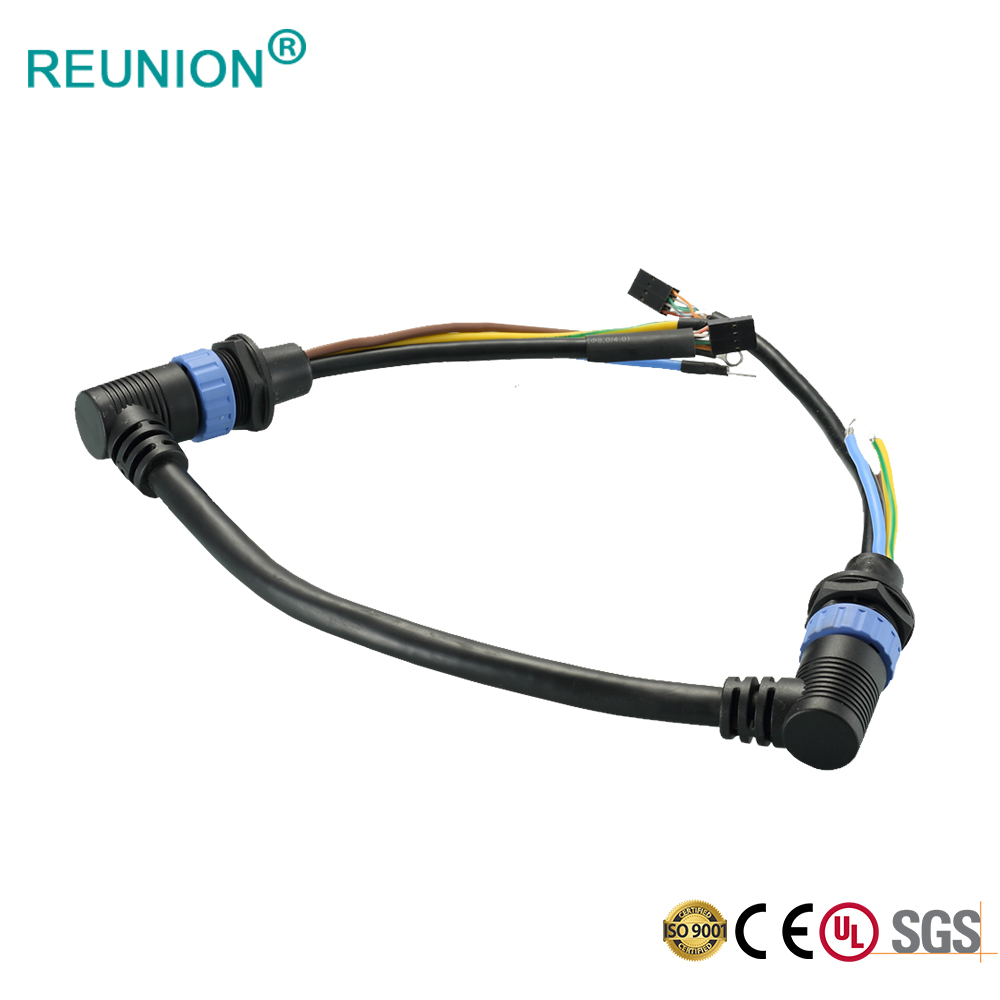 REUNION Hybrid 3+9 Pin Led Lighting Outdoor Cable IP68 Waterproof Connector