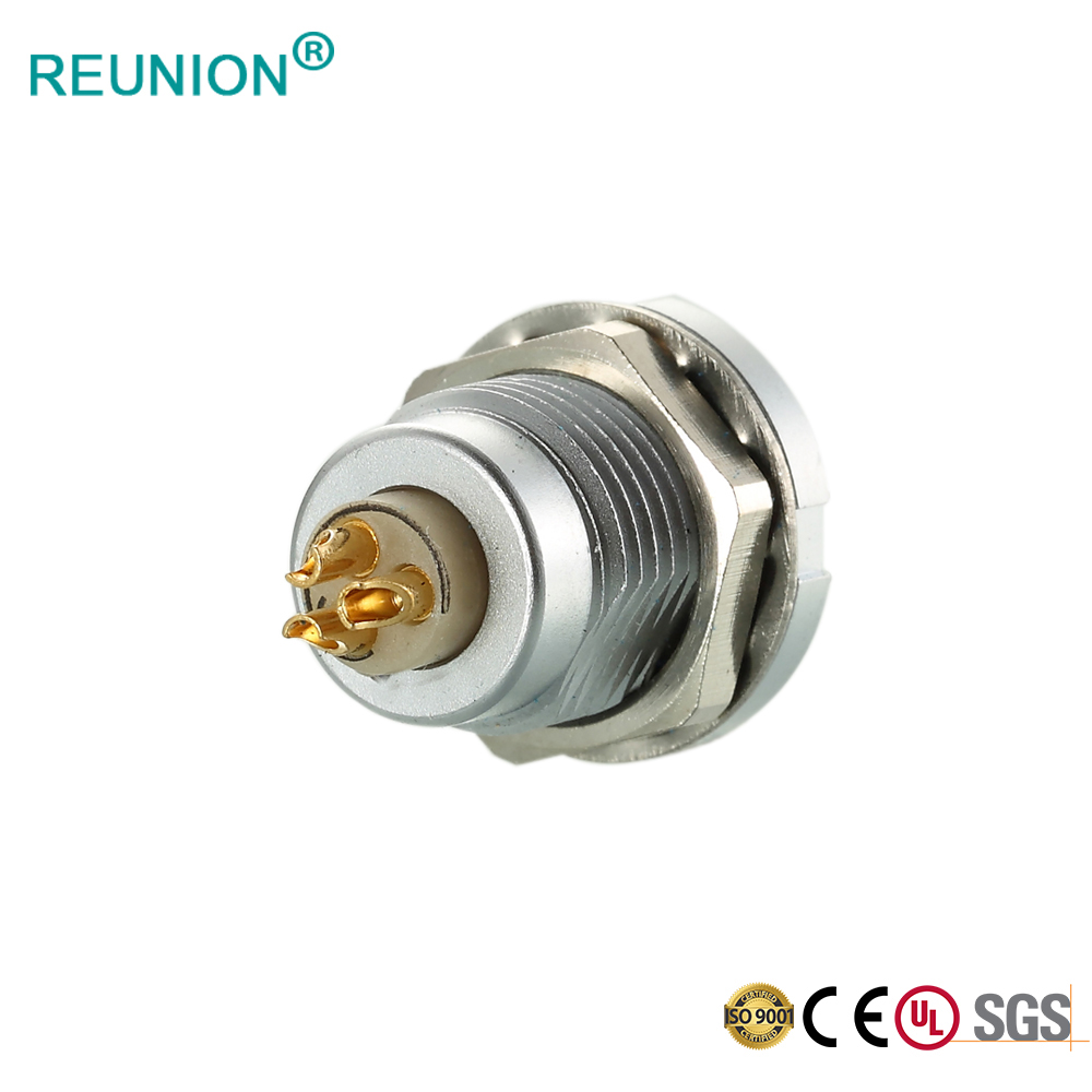 Hight Precision Metal Connector Panel Mount Female Receptacle with PPS Insulator