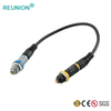 REUNION Series P 2~14 Pin Plastic Plug Medical PKG Connector with Fixed Socket Couplers