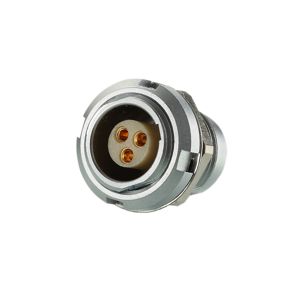 SCG.1B303.CPL - Hight Precision Metal Connector Panel Mount Female Receptacle with PPS Insulator